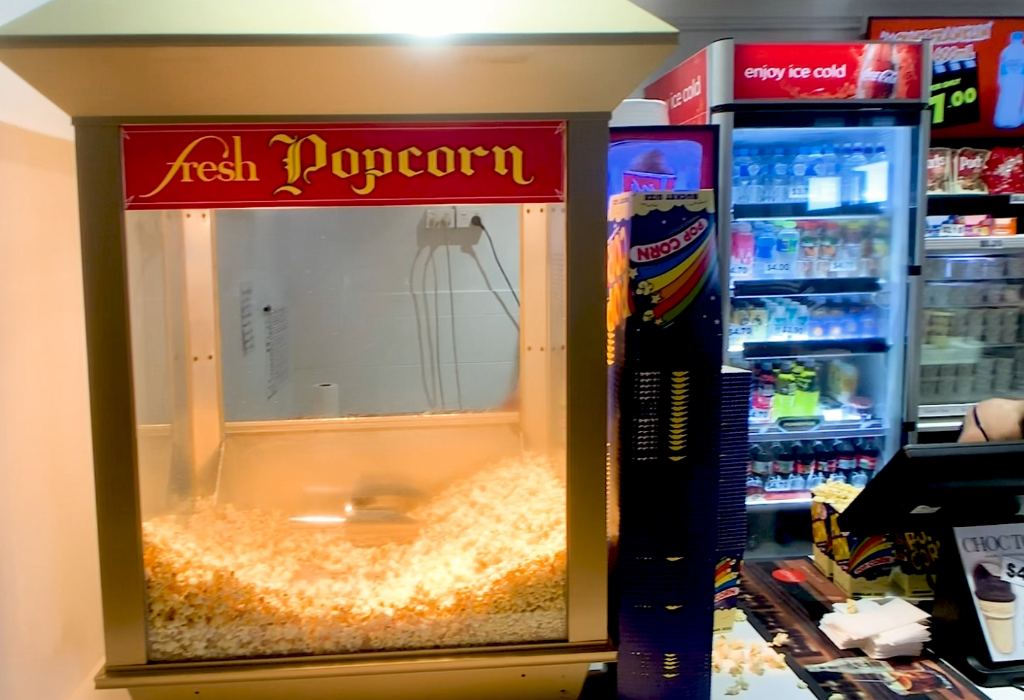 photo of popcorn machine